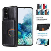For Samsung Galaxy S20 Fe S10 Note 20 Ultra Flip Leather Wallet Card Holder Case