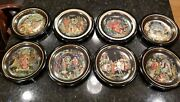 Set Of 8 Russian Collector Plates Tiaanex Bradex Legend Fairy Tale 1988-90 Frame