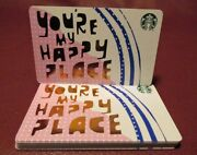 Lot Of 10 Starbucks 2017 You're My Happy Place Gift Cards New With Tags