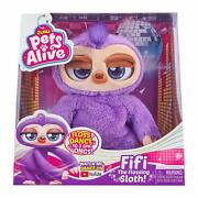 Pets Alive Fifi The Flossing Sloth Purple - 11 Interactive Animal Dancing