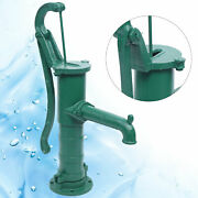 Manual Pump Cast Iron Outdoor Yard Pond Well Water Pitcher Press Suction Pump Us