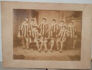 Vintage 19th Century Large Cabinet Card Photo Play Drama Theater Unique Outfits