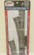 Atlas 542 4 Left Hand Turnout Switch Nickel Silver Code 83 Ho Scale Track
