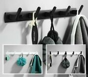 Wall Mounted Robe Hooks Bathroom Hardware Towel Clothes Hat Hook White Black