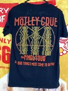 Authentic Motley Crue Final Tour 2015 End Concert Tee Small Alice Cooper Signed