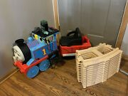 Thomas The Train Ride On With Factory Track Peg Perego New Battery And Charger