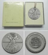 1965 Israel State Medal Sterling Silver Mountains Round About Jerusalem