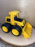 Cat Toy Bulldozer W/ Large Wheels Plastic In Excellent Condition Toy State