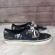 Desert Tribe Cactus Cow Skulls Graphite Canvas Lace-up Shoes M-9.5/w-11nwt