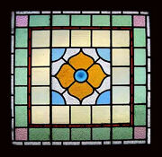 Victorian English Antique Stained Glass Window