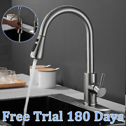 Kitchen Faucet With Pull Out Sprayer Lead High Arch Single-handle Kitchen Tap