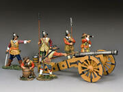 King And Country Pike And Musket Sgs-pnm002 English Civil War Cannon Set 2