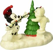 Dept 56 Disney Snowbabies Lighting The Tree With Mickey 6000830 New In Box