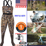 Hisea Chest Waders Nylon 2-ply Waterproof Cleated Bootfoot Hunting Fishing Wader