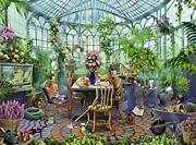 Ravensburger Greenhouse Morning 500 Piece Puzzle For 19.5 X 14.25, Multi