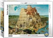 Eurographics The Tower Of Babel By Pieter Brueghel 1000 Piece Puzzle...