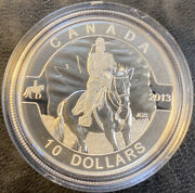 2013 10 O Canada .5oz .999 Fine Silver Coin With Royal Canadian Mounted Police