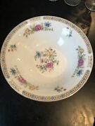 Liling Fine China Yung Shen Ling Rose Round Vegetable Serving Bowl - 9 Inch 12