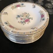 """Liling Yung Shen Fine China Bowl Set Of 8 Floral/butterfly 8"""" Bowls 18"""