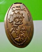 Universal Studios Elongated Penny Usa Cent Lisa And Maggie Souvenir Coin Simpsons
