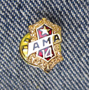 Vintage Ama Motorcycle Club 14 Year Medal Badge Pin Harley Indian Excelsior Ace
