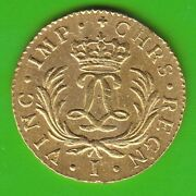 Gold France Louis Dand039or Mirliton 1724 I Limoges In Xf Very Rarely Nswleipzig
