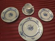 Liling Fine China Yung Shen Blue Cathay Rare Single Place Setting.