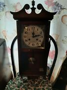 Vintage Rolens Grandfather Wall Clock Not Working