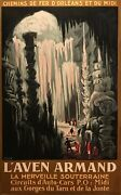 1930s Original French Railway Travel Poster Land039aven Armand Vintage French