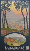 1933 Original French Railway Travel Poster La Bourboule French Railway Poster