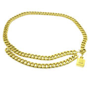 Cc Logos Perfume Charm Gold Chain Belt Accessories 23 Authentic 38220