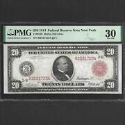 Fr 953b 20 1914 Federal Reserve Note New York Pmg 30 Red Seal Ships Free