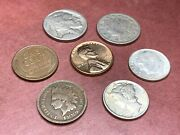 Coin Collector Starter Kit Silver Dimes, Buffalo And Liberty Nickels, And Pennies