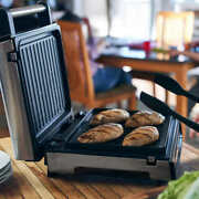 George Foreman Contact Smokeless Digital Indoor Grill, Dishwasher-safe Drip Tray