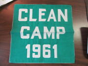 Clean Camp 1961 Banner, Camp Ockanickon 11 By 11 Inches  Cov3