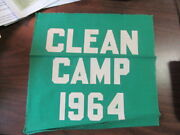 Clean Camp 1964 Banner, Camp Ockanickon 11 3/4 By 12 Inches  Cov3