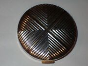 Vintage Art Deco Silver Gold Charles Of The Ritz Compact