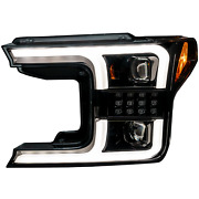 Ford F150 18-20 Recon Projector Headlights Oled Drl Led Turn Signs. Black