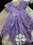 Disney Store Authentic Nwt Sofia The First Costume Size 7 8 Dress