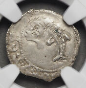 France. Charles Viii 1483-1498. Silver Liard As Dauphine Ngc Ms63