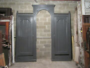 Antique Carved Walnut Closet Front With Pass Through 112 X 114 Salvage