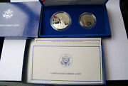 Pair 2 United States Liberty Coin Set- Boxes And 1 Coa, 2 Silver Dollars