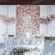 Wall Artificial Flower Background Floral Photo Backdrop Window Layout Row Decors