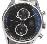 Tag Heuer Carrera Car2110-4 Cal.1887 Chronograph Automatic Menand039s Watch Used