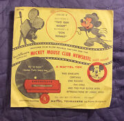 Walt Disneyand039s Mickey Mouse Club Newsreel Series C With Envelop 1950and039s