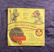Walt Disneyand039s Mickey Mouse Club Newsreel Series B With Envelope 1950and039s