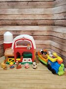 Fisher-price Little People Animal Sounds Barn W/animals/ Train