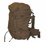 Filbe Usmc Main Pack Coyote Brown With Frame And Waist Belt Zipper Closure New