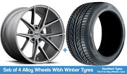 Niche Winter Alloy Wheels And Snow Tyres 19 For Honda Pilot [mk2] 09-15