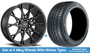 Niche Winter Alloy Wheels And Snow Tyres 19 For Bmw 3 Series [f31] 12-19